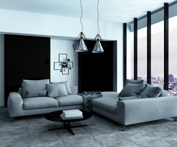 Comfortable corner in a spacious living room