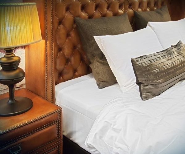 17368372 - double bed with stylish lamps